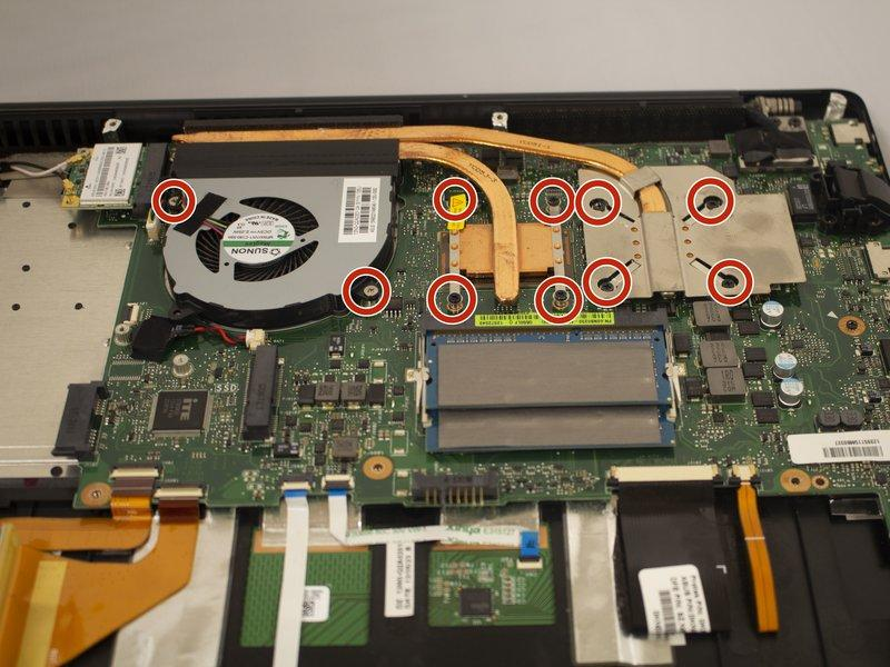 Step 15 MotherBoard Remove the ten screws