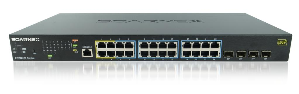 EP220-28-193 28-Port Managed Gigabit Switch with 4 x IEEE 802.3at + 20 x IEEE 802.