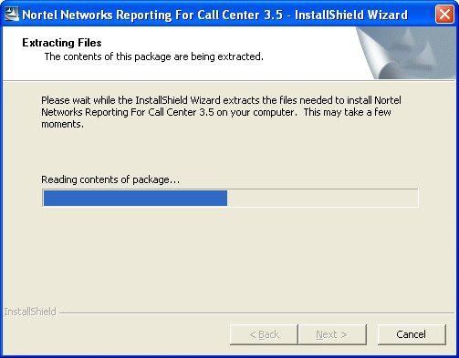 10 Installation Figure 1: InstallShield Initialization Dialog The Extracting Files dialog shown in Figure 1 prepares the