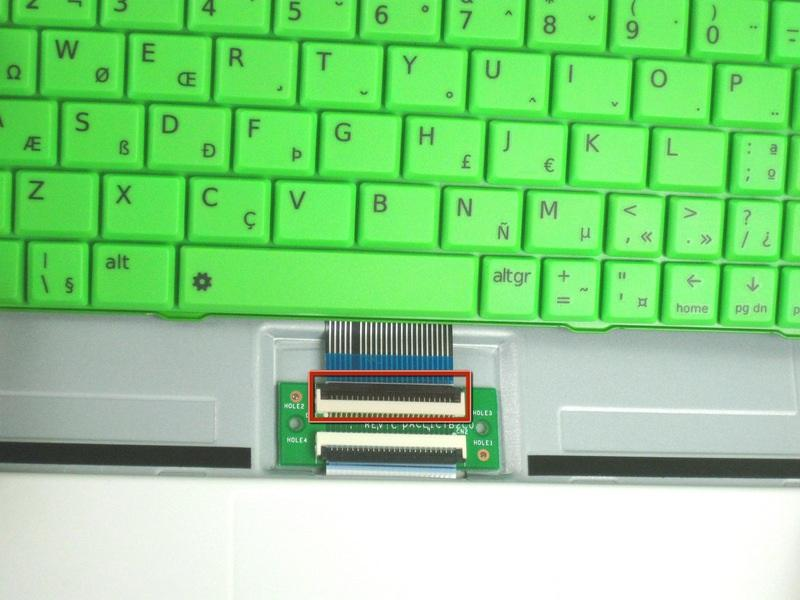 is still a ribbon cable attached to the bottom.