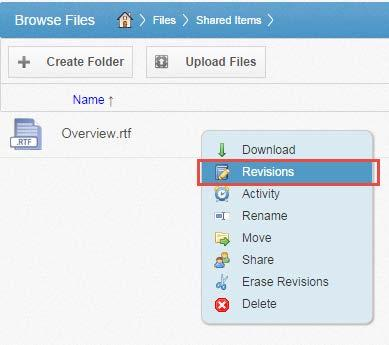 How to View and Restore a Revision When working in the system, you might find it useful to view a list of revisions to a file.