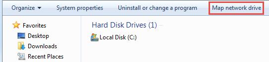 How to Map a Network Drive on a Windows Machine To map a drive on a Windows machine: 1. In your start menu, click Computer.