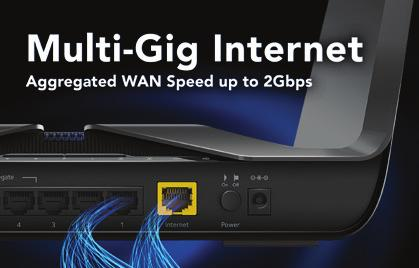 An additional quad-core co-processor handles all Multi-Gig LAN-WAN traffic, ensuring the main processor is available for all other applications.