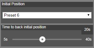 2. Set the preset positions in order (preset 6 to preset 9). Use direction control panel to move the camera to wanted position and select save to save the preset position.