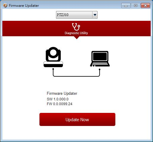 Select the firmware and select the Upgrade button. 5. After updating, refresh the browser. USB Update 1.