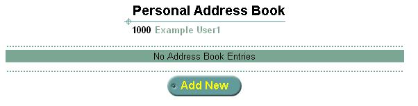38 CHAPTER 2: SETTING UP MESSAGING FEATURES Figure 12 Personal Address Book 2 To add a new entry to your personal