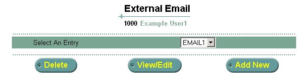 Using the Web Interface 41 Figure 17 External E-mail Setup 2 To add external E-mail servers to your mailbox, click Add New.