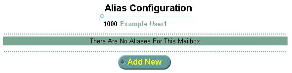 Using the Web Interface 43 Alias Configuration Use the Alias Configuration feature to set up different numbers that are associated with and point to your mailbox.