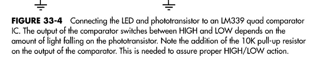 Then use a sensor circuit that provides an output if the light is detected.