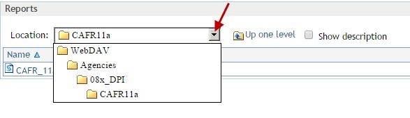 Note: You may also click on the drop down box and click on a particular level
