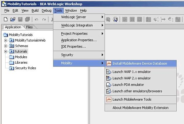 Install MobileAware Device Database Figure 16 Install MobileAware Device Database 3.