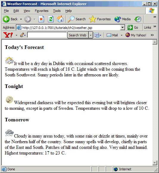 Creating Content for PC and PDA Browsers Figure 21 weather.