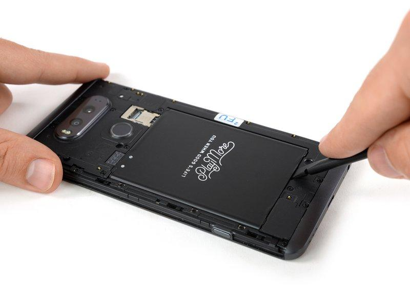 Step 1 Battery Before disassembling your phone, discharge the battery