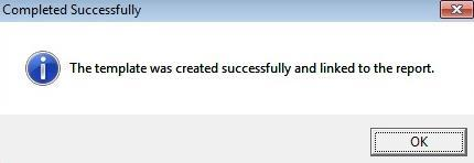 11. Once the template has been successfully linked, the following message is displayed.