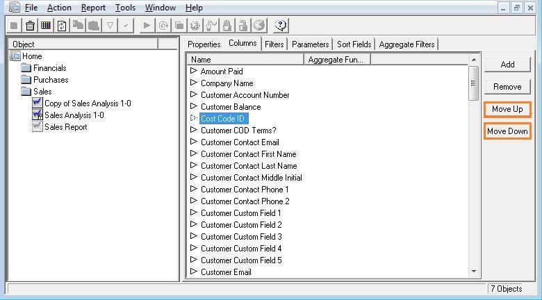 Moving and Deleting Columns Moving Columns 1. If you want the columns to appear in a certain order in Microsoft Excel, you can change their order in the Properties window. 2.