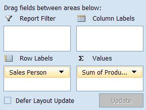 Add a Field Method 1. Select the check box next to the field in the Field List. OR 2.