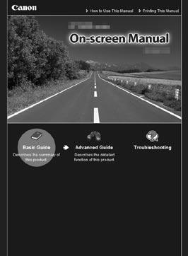 After Installing the Printer Manuals Safety Precautions Safety and Environment Information Getting Started (this manual) Basic Guide (o n-s c r e e n m a n u a l) Advanced Guide (on-screen manual)