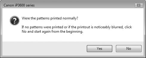 Aligning the Print Head 4 5 (B) (C) Confirm the displayed message and click Align Print