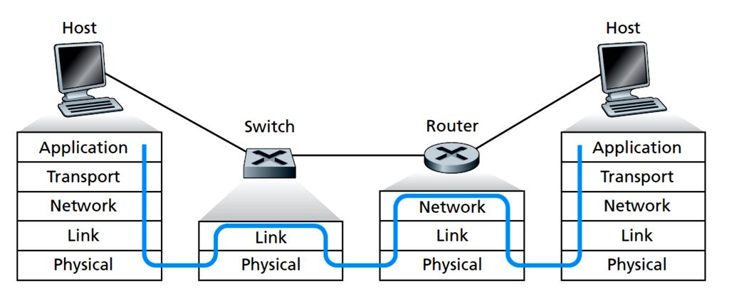 Switches and Routers 1-14 Larger networks require routers as they have better traffic isolation and can