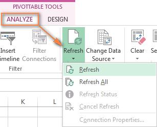 How to refresh a pivot table in Excel Although a pivot table report is connected to your source data, you might be surprised to know that Excel does not refresh it automatically.