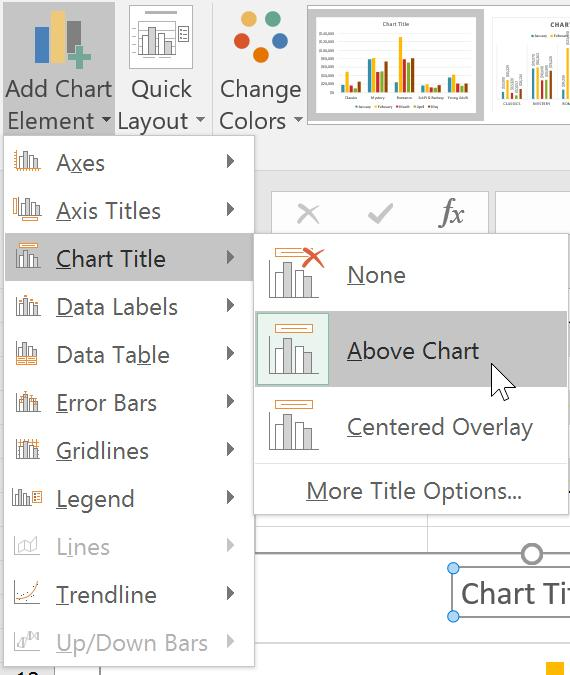 Chart and layout style A er inserting a chart, there are several things you may want to change about the way your data is displayed. It's easy to edit a chart's layout and style from the Design tab.