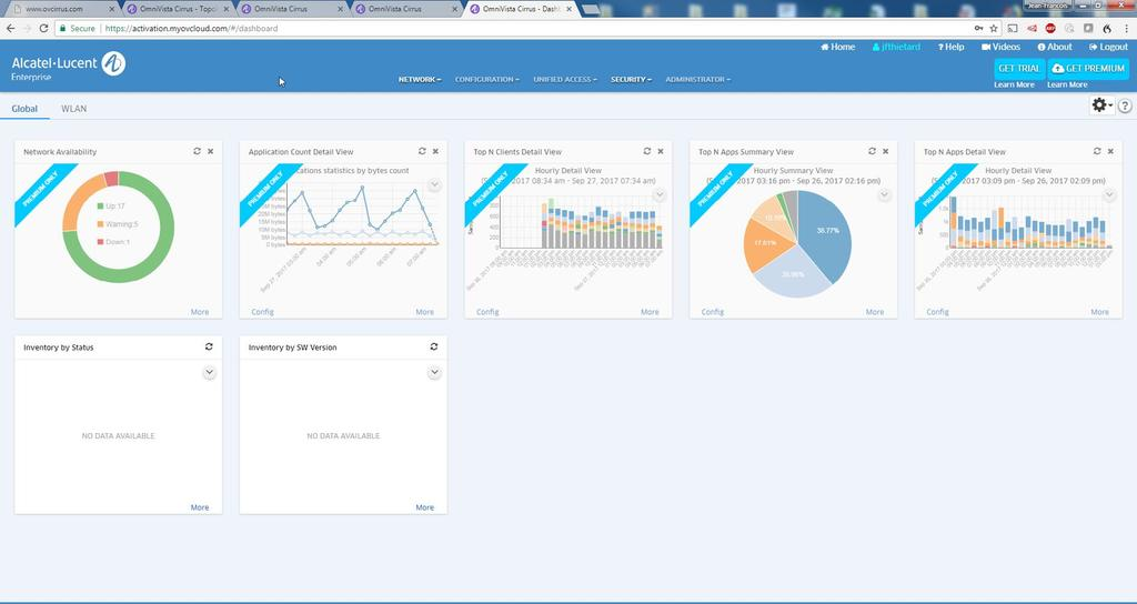 OmniVista Cirrus Freemium OmniVista Cirrus Freemium mode allows Alcatel-Lucent