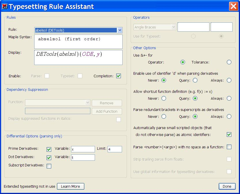 "The Typesetting Rule Assistant The option ""Typesetting Rules..."" in the View menu brings up the Typesetting Rule Assistant, shown in Figure 1."