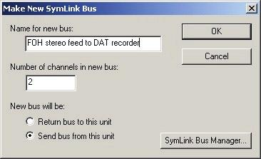 Revision 1.2 SymNet Designer 1. Access the Bus Sends and Returns in the Toolkit. 2. Drag a New SymLink Bus Send/Return module from the Toolkit onto your design. 3.