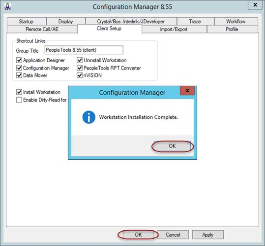 Click OK when the Wrkstatin Installatin Cmplete message appears. Then click OK t clse cnfiguratin manager.