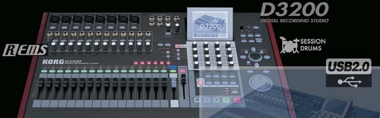 EasyStart D3200 Main Features 32 track recorder plus a dedicated stereo master track - a total of 272 virtual tracks! Up to 12 track simultaneous recording in both 16 and 24bit Record / playback @ 44.