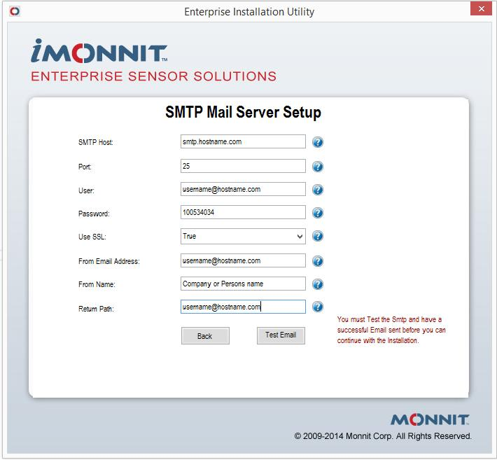 SMTP Cnfiguratin This step creates a cnnectin t yur SMTP server, s that the applicatin can send ntificatins. This infrmatin can pint t an email server, a SMTP frwarder, r a transactinal email service.