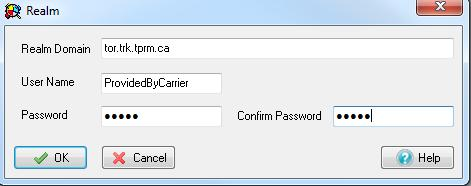 Realm Domain: tor.trk.tprm.ca User Name: Provided by ThinkTel Password: Provided by ThinkTel 3.1 Table Parameters Each row corresponds to a Protection Domain that the MX is allowed to access.