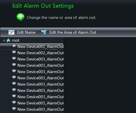 Click Edit Alarm Out Settings under Alarm Management in the control panel to go to the interface as shown on the right.