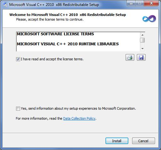 NVMS1000 User Manual 3 Check vcredist_x86 (or check vcredist_x64 for 64bit system) and