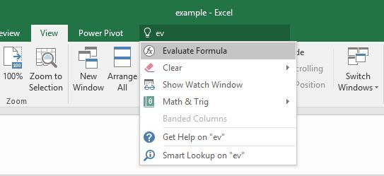 Getting Started Help Function (Tell me) Excel has a comprehensive Help facility.