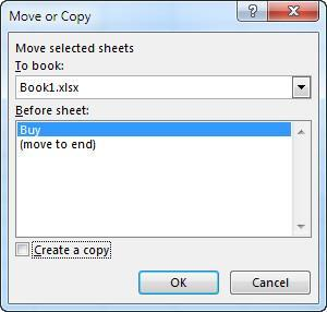 Workbooks & Worksheet Copying and Moving Sheet Sheets within a