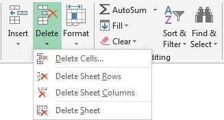 Formatting Deleting Rows and Columns Unwanted extra rows