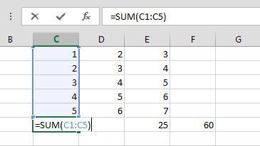 Formulas & Function AutoSum The most common mathematical operation is addition.
