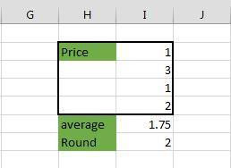 Formulas & Function Average & Round Average adds a list of numbers and divides by the number of numbers