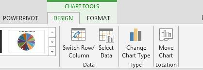 Charts Chart Types To Chang the chart type, first select the chart.