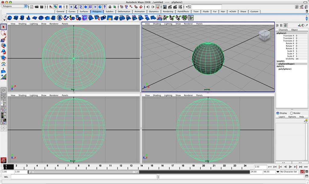 Modeling Creating 3D geometric data The model or the scene By hand Autodesk (Maya,