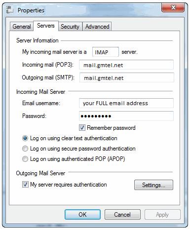 "Verify Server Settings: 5. Click n the Server Settings tab Determine which server settings yu need. ""My incming mail server is a"" shuld either read POP r IMAP. Yu cannt change this field."
