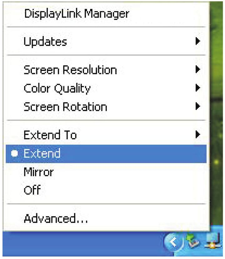 Extend to: This option lets you reposition the extended screen to the top, bottom, left or right