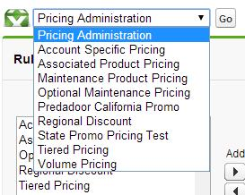 Quote Line Item User Once a new custom pricing rule type has been created it will appear as a selection in the