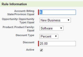 Selecting your new rule and clicking Go will allow you to add pricing rules to your new custom pricing rule