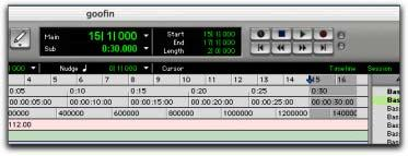 Pro Tools Interface Changes Transport Controls in the Edit Window The Transport commands can be displayed and operated in the Edit window (at the top right of the window).
