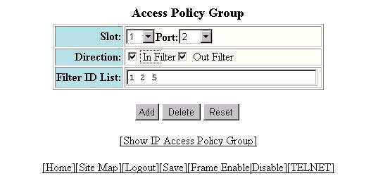 Policies and Filters You also can specify policy ranges.