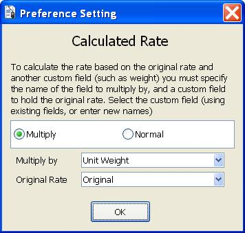 CALCULATED RATE This feature allws yu t alter the rate that is used in the calculatin f the amunt in a detail line f an rder. T use this feature click n Multiply.