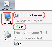 Select the Layout button to manage assigned layouts.
