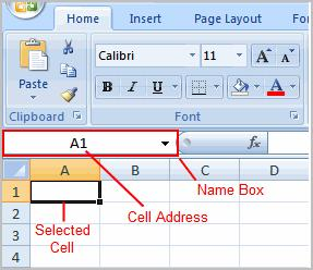 To Insert Text: Left-click a cell to select it.